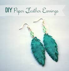 how to make feather earrings how to make paper feather earrings savedbyloves your