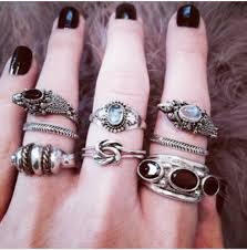 white girl rings images Jewels ring stone boho jewelry grunge wishlist grunge jpg