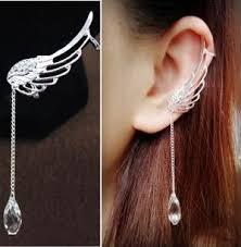 cool ear rings 2017 fashion angel wing earrings drop dangle ear