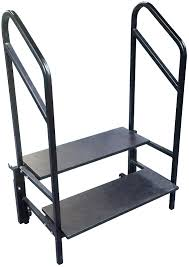 2 Step Handrail 2 Step Stage And Seated Riser With Heavy Gauge Frame And