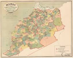 carte au bureau morocco maroc au 1 500 000e carte des bureaux de l etat civil