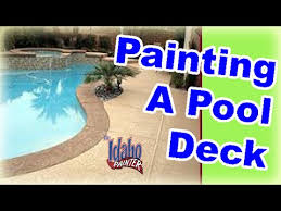 how to paint a pool deck diy tips painting concrete pool decks