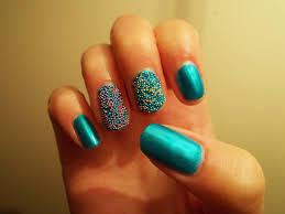 beautiful caviar beads design nail art
