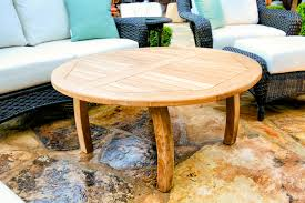 teak round coffee table tortuga outdoor of georgia