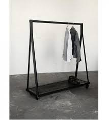 Best Reclaimed Wood Clothing Rack Garment Throughout Free Standing