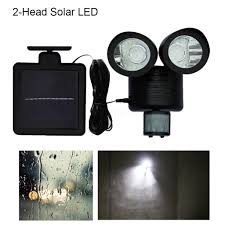 Outdoor Motion Sensor Security Lights by Zn Rt5 2 Head Solar Led Light White Motion Sensor Security Light