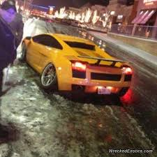 crashed lamborghini lamborghini gallardo gets crashed in maryland