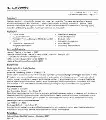 Education Resume Sample by Teachers Sample Resume Best Resume Collection