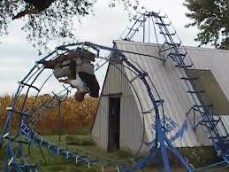 a guy from indiana built a pretty intense roller coaster in his