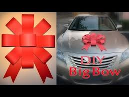 new car gift bow my attempt and added twist to a diy paper bow for my