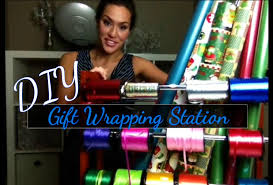 easy diy gift wrapping station