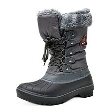 womens grey boots canada pairs s dp canada faux fur lined mid calf winter