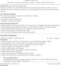 bartender resume template resume exles for bartender best resume collection
