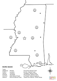 Louisiana Mississippi Map by Mississippi Map Worksheet Coloring Page Free Printable Coloring
