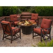 Gas Fire Pit Table Sets - coral coast south isle dark brown sectional set with livingston
