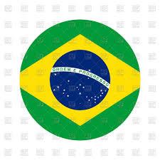Brazil Flag Image Round Icon Of Brazil Flag On White Background Royalty Free Vector