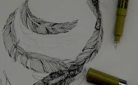 pen u0026 ink drawing tutorials how to draw feathers with pen u0026 ink