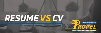 cv vs cv resume vs cv curriculum vitae graduate professional development