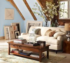 Accent Tables For Living Room by Living Room Pottery Barn Living Room Ideas Brown Faux Leather