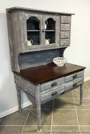 Diy Hutch Weathered Wood And Beadboard Painted Hutch Farm Fresh Vintage Finds
