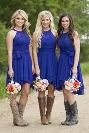 bridesmaid dresses with boots royal blue bridesmaid dresses