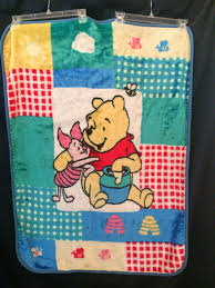 winnie the pooh luxury plush baby blanket piglet nursery crib