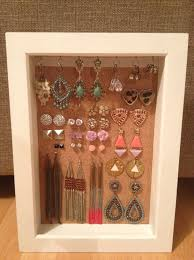 jewelry box photo frame diy earrings box frame pin board blahga