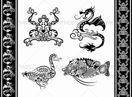 animal ornaments frog duck fish by comicvector703