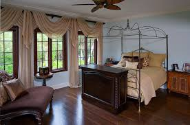 bedroom classic mediterranean dining room with rectangle brown