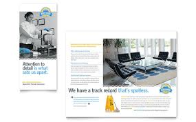 office brochure templates janitorial office cleaning tri fold brochure template design