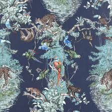 monkey wallpaper for walls bird wallpaper and birdcage wallpaper tm interiors