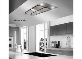 ceiling mounted kitchen extractor fan victory sky 43 5 x 27 5 stainless steel ceiling mount range hood