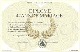 42 ans de mariage diplome 42ans de mariage