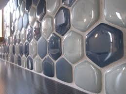 Recycled Glass Backsplashes For Kitchens Recycled Glass Hexagon Tile Backsplash Backsplash Pinterest