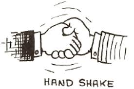drawing cartoon shaking hands how to draw step by step drawing