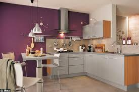 mur cuisine aubergine couleur aubergine cuisine cuisine modle beta en laque mate