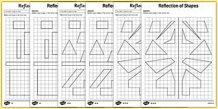 reflection of shapes activity sheet pack ks2 key stage 2