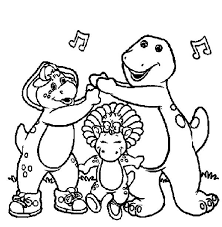 barney friends coloring free download