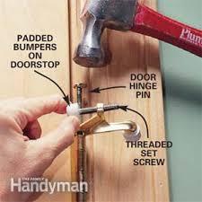 Installing Interior Door Hinges How To Install Doorstops Family Handyman