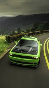 Dodge Challenger Green - dodge challenger srt green iphone wallpaper iphone wallpapers