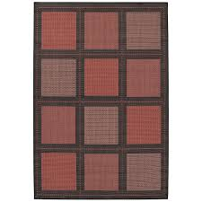 Nuloom Outdoor Rugs by Couristan Recife Checkered Field Indoor Outdoor Area Rug Natural