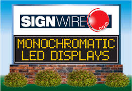 lighted message board signs led message centers monochromatic displays