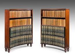 Open Bookcase Room Divider Pair Of George Iii Period Mahogany Concave Open Bookcases C 1810