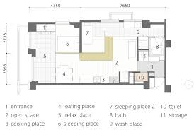 L Shaped Floor Plans by L Shaped Wood Partition Unifies All Areas In Small Practical