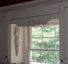 Kitchen Cabinet Valance Interior Carved Decorative Wooden Window Valances With White