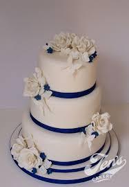 wedding cake royal blue ivory and royal blue wedding cake flickr photo wedding