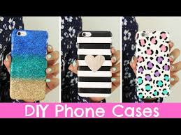 Cute Ways To Decorate Your Phone Case Diy Phone Cases Three Designs Cute U0026 Easy Youtube