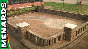 Brick Designs For Patios by Block Patio How To Menards Youtube
