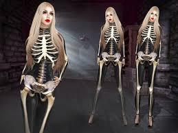 Skeleton Jumpsuit Second Life Marketplace Boudoir Halloween Deadly Chic Catsuit