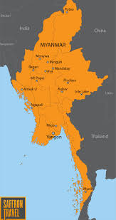 China On The Map by Myanmar Destination Saffron Travel